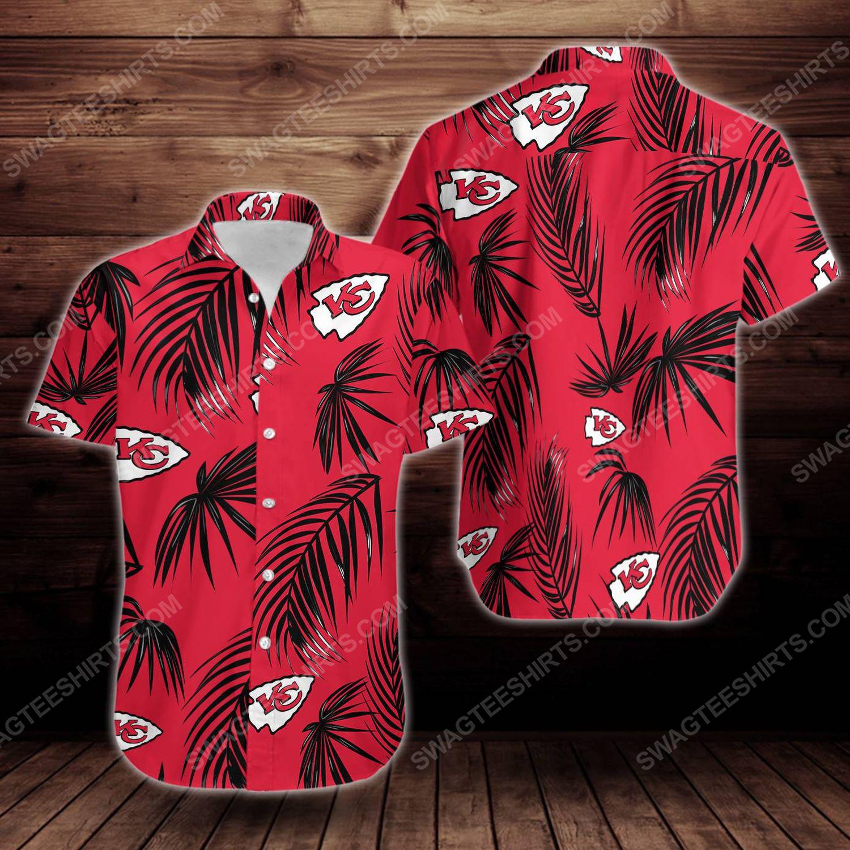 Tropical summer kansas city chiefs short sleeve hawaiian shirt 1