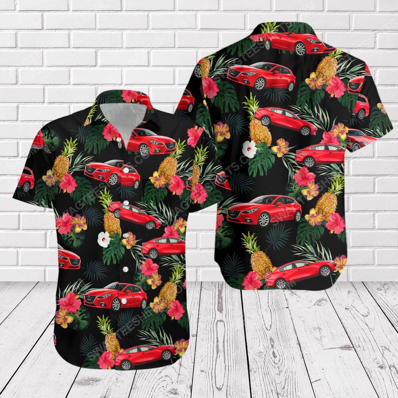 Tropical summer mazda short sleeve hawaiian shirt 1