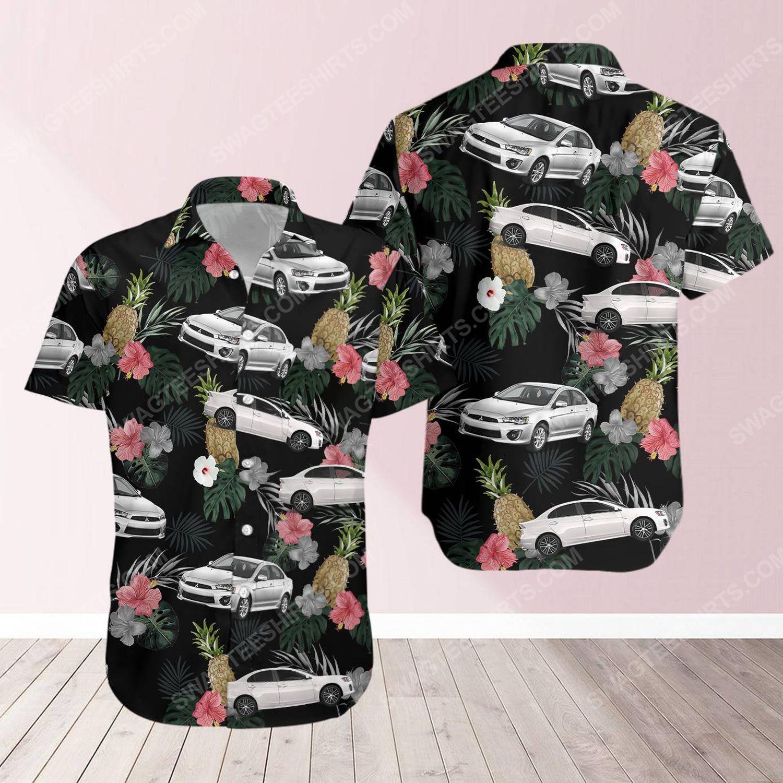 Tropical summer mitsubishi car short sleeve hawaiian shirt 1