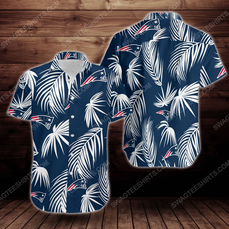 Tropical summer new england patriots short sleeve hawaiian shirt 1