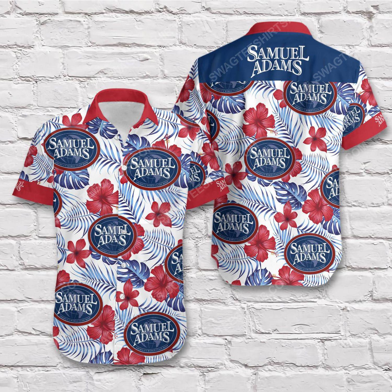 Tropical summer samuel adams beer short sleeve hawaiian shirt 1