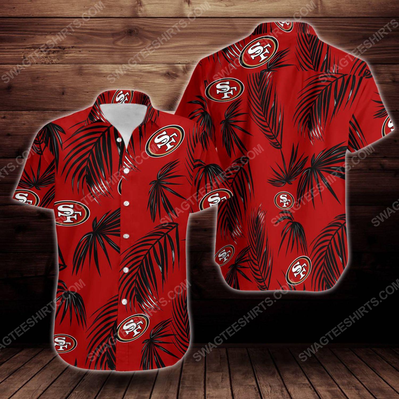 Tropical summer san francisco 49ers short sleeve hawaiian shirt 1