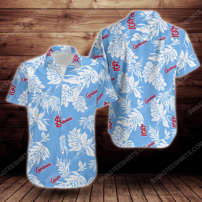Tropical summer st louis cardinals short sleeve hawaiian shirt 1