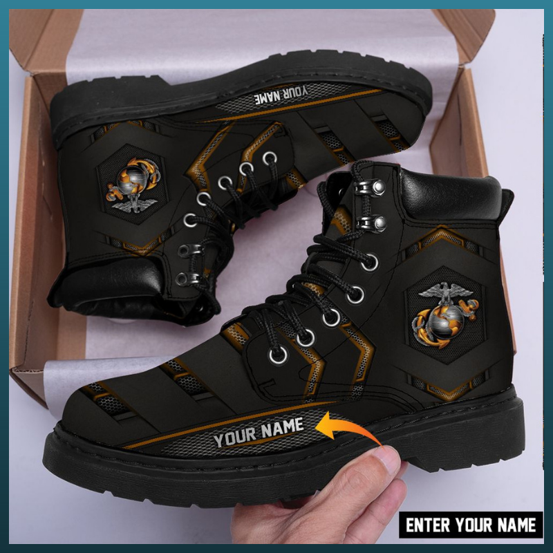 U.S Marine custom personalized name timberland boot - LIMITED EDITION