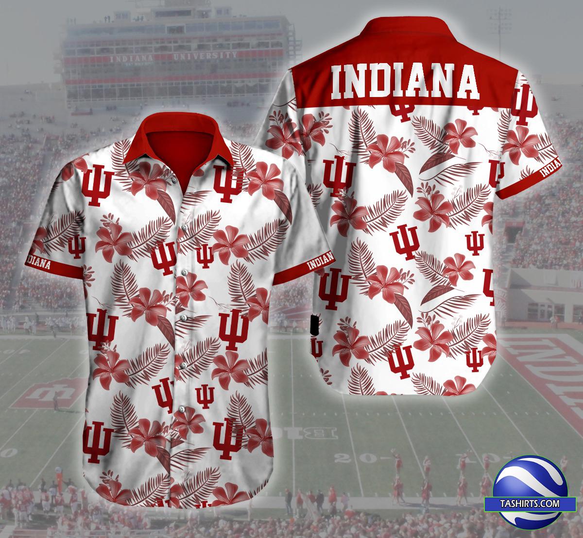 Indiana Hoosiers NCAA Hawaiian Shirt