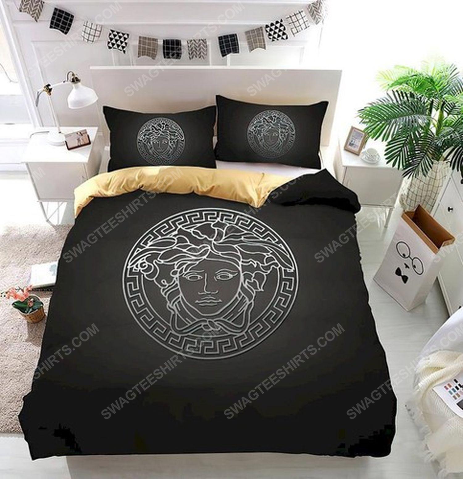 Versace home black version full print duvet cover bedding set 1