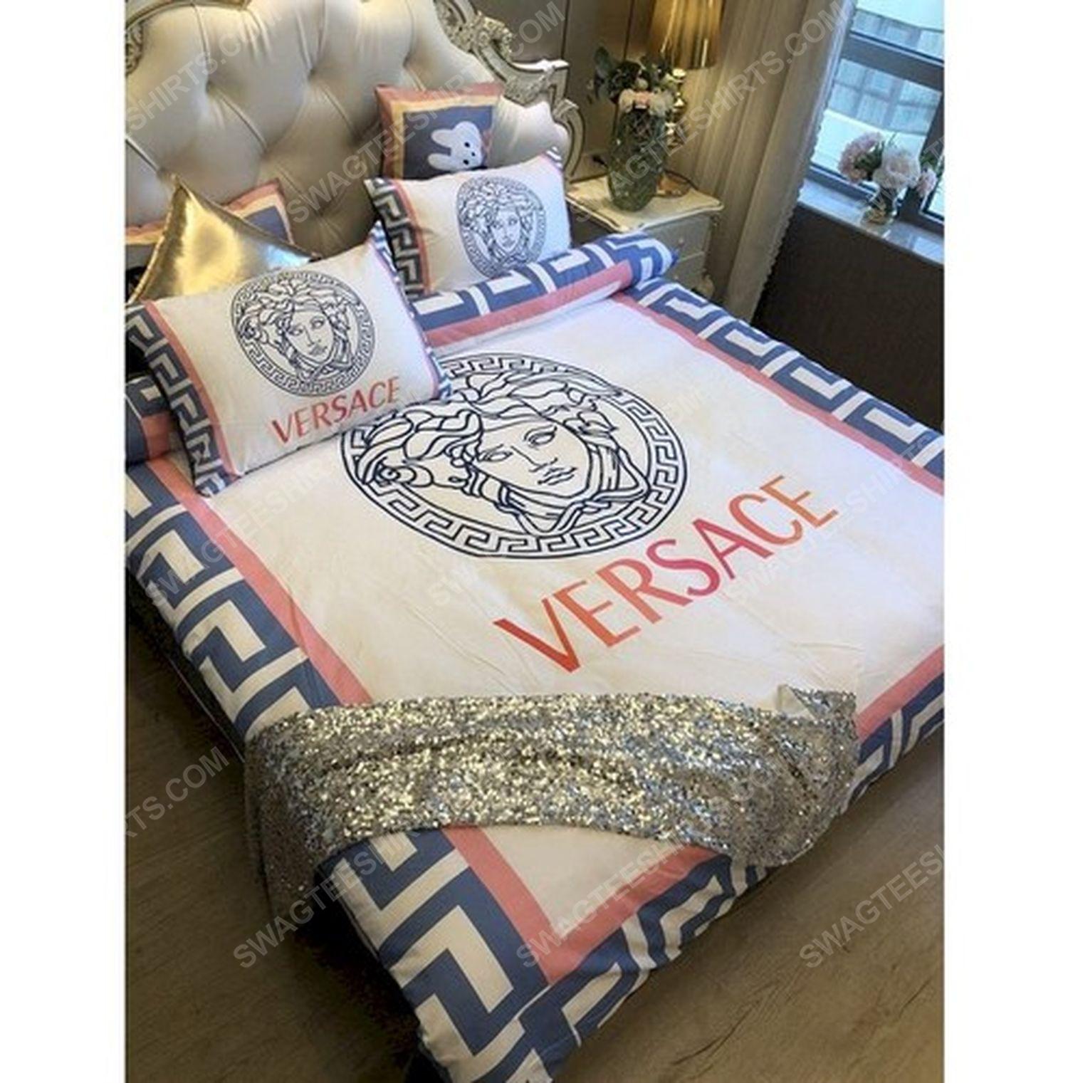 Versace home cream version full print duvet cover bedding set 1