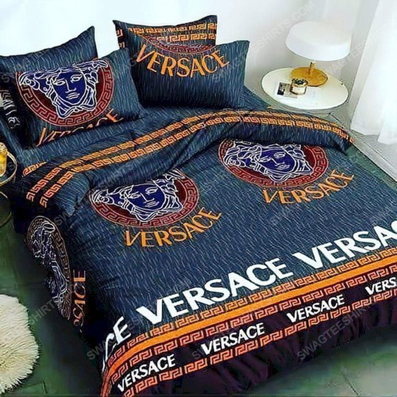 Versace home navy version full print duvet cover bedding set 1
