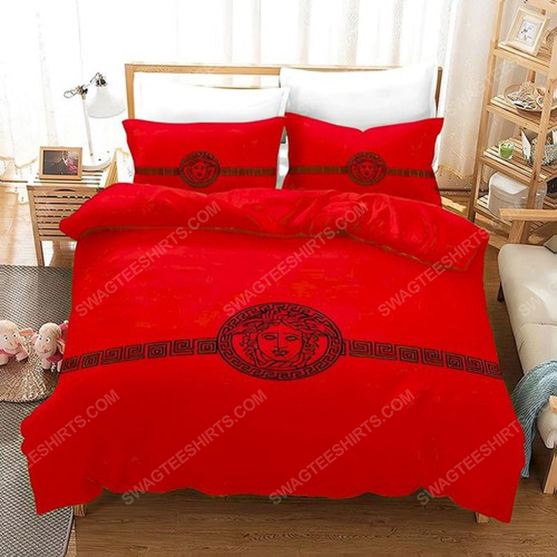 Versace home red version full print duvet cover bedding set 1
