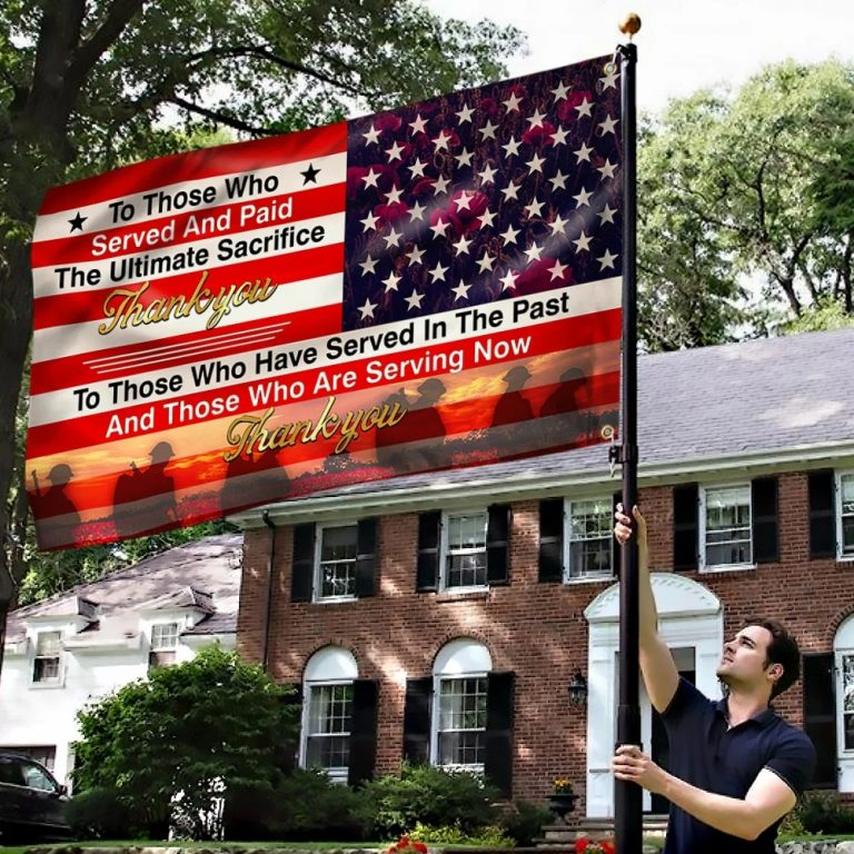Veteran Flag Ultimate Sacrifice Thank You
