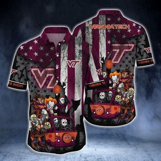 Virginia Tech Hokies Summer Hawaiian Shirt -BBS