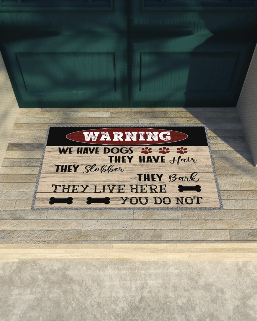 Warning we have dogs they have hair doormat - Picture 3