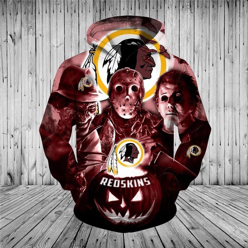 [Hot Trend] Washington Football Team Halloween Horror Night 3D Pullover Hoodie - Hothot 050921