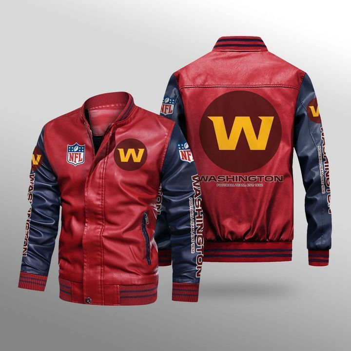 Washington Football Team Leather Bomber Jacket - LIMITED EDITION