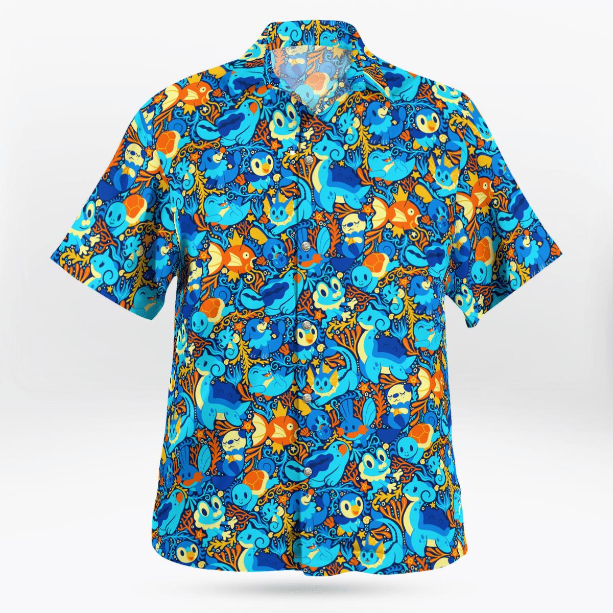 Water Pokemon Hawaiian shirt - LIMITED EDITION
