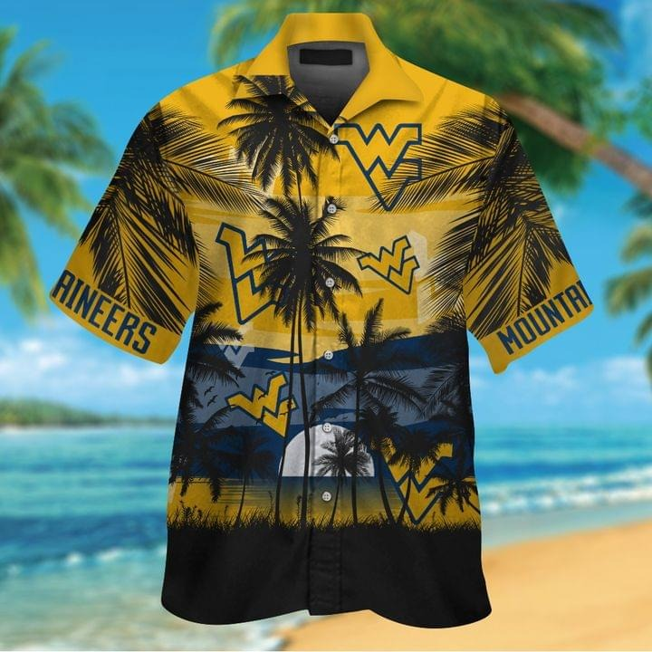 West Virginia Mountaineers Tropical Short Sleeve Hawaiian Shirt
