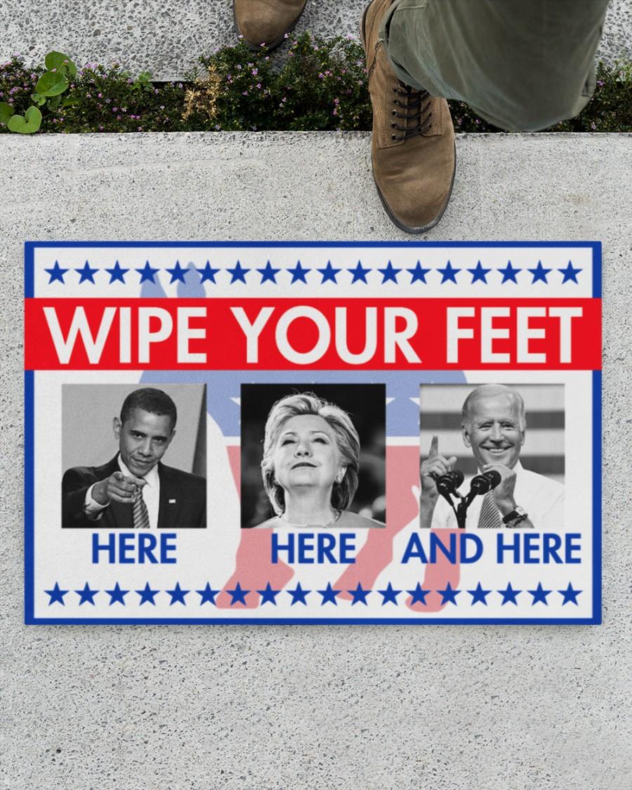 Wipe your feet here Obama Clinton Biden doormat 1