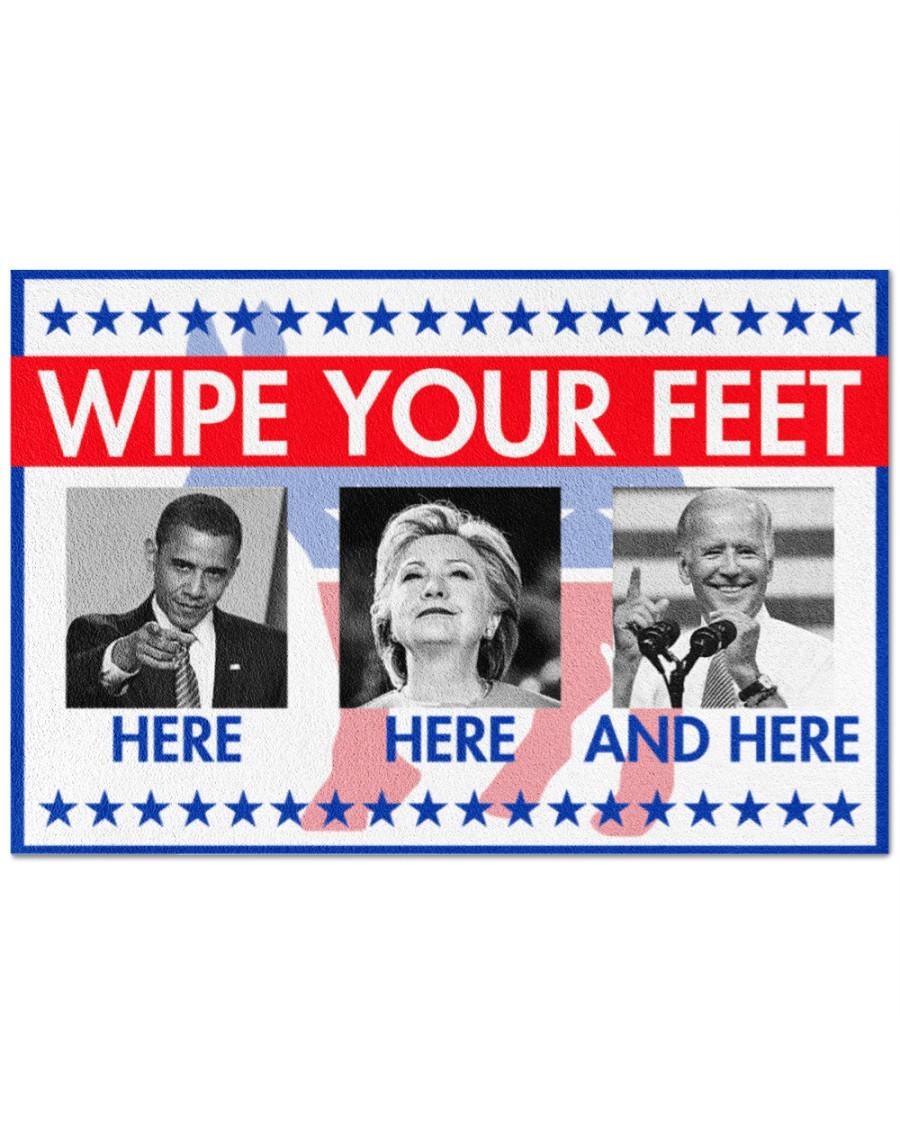 Wipe your feet here Obama Clinton Biden doormat