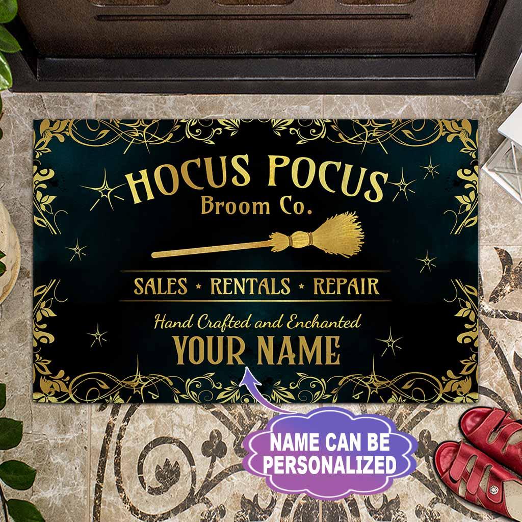 Witch Hocus Pocus broom sales rentals repair custom Personalized doormat - LIMITED EDITION