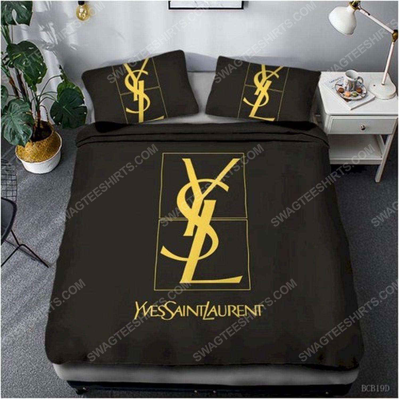 Yves saint laurent full print duvet cover bedding set 1