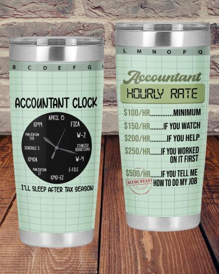 Accountant Hourly Rate Accountant Clock Tumbler1 1