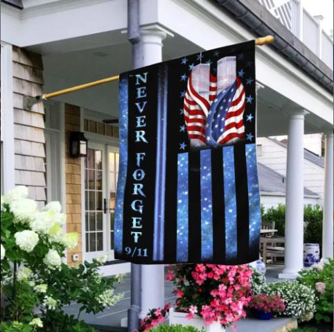 9/11 Never Forget Memorial Flag