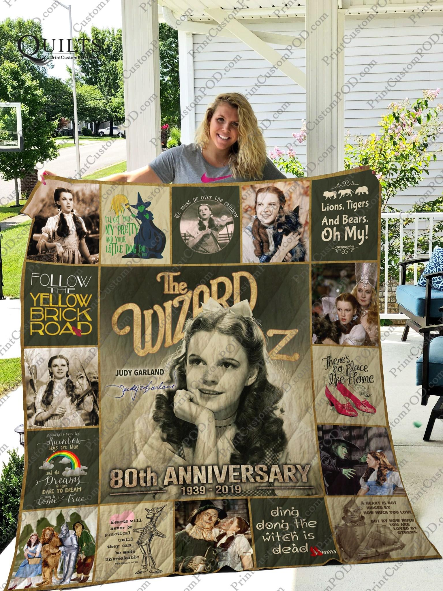 The wizard of oz judy garland 80th anniversary quilt - maria
