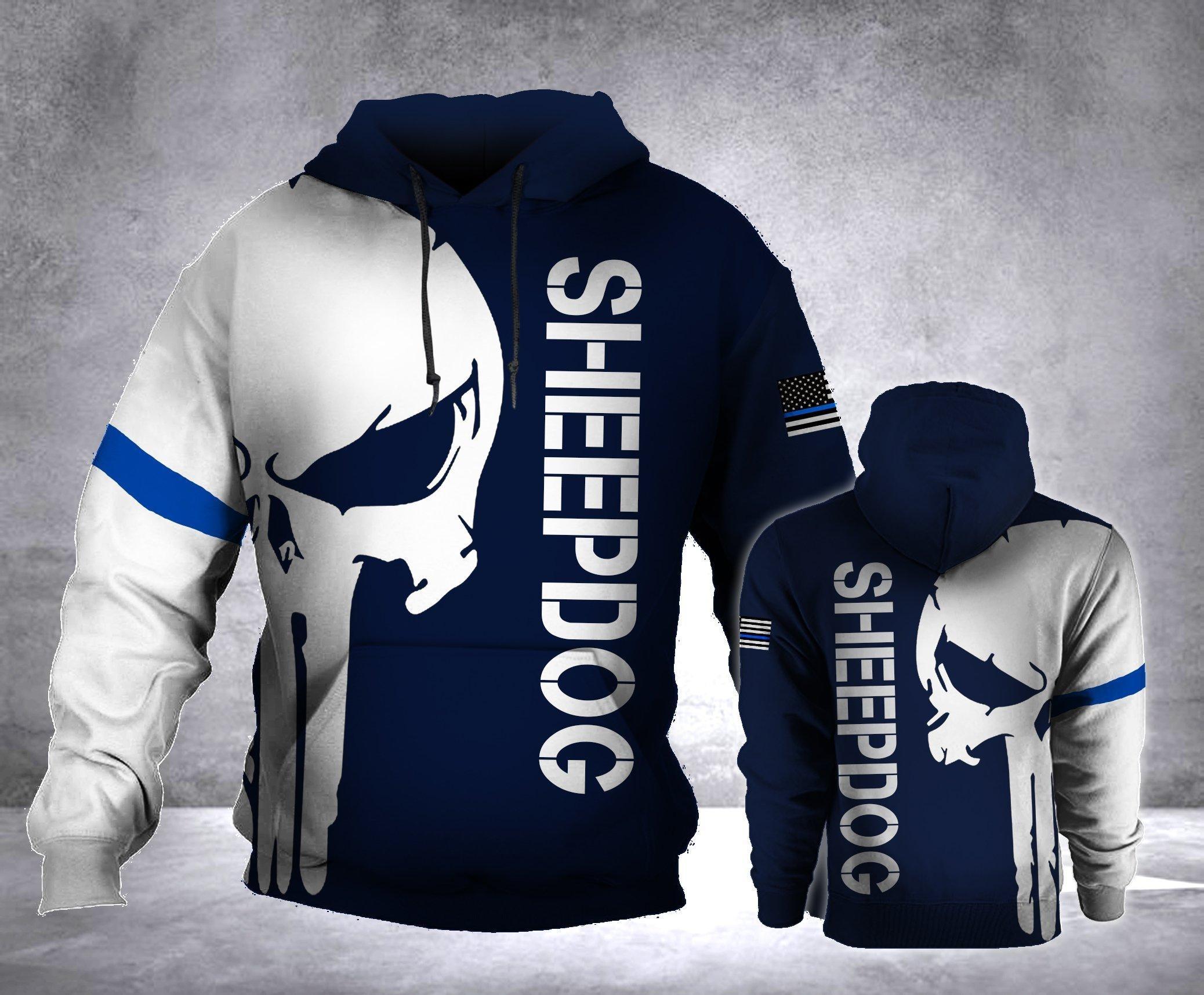 Sheepdog skull 3d hoodie