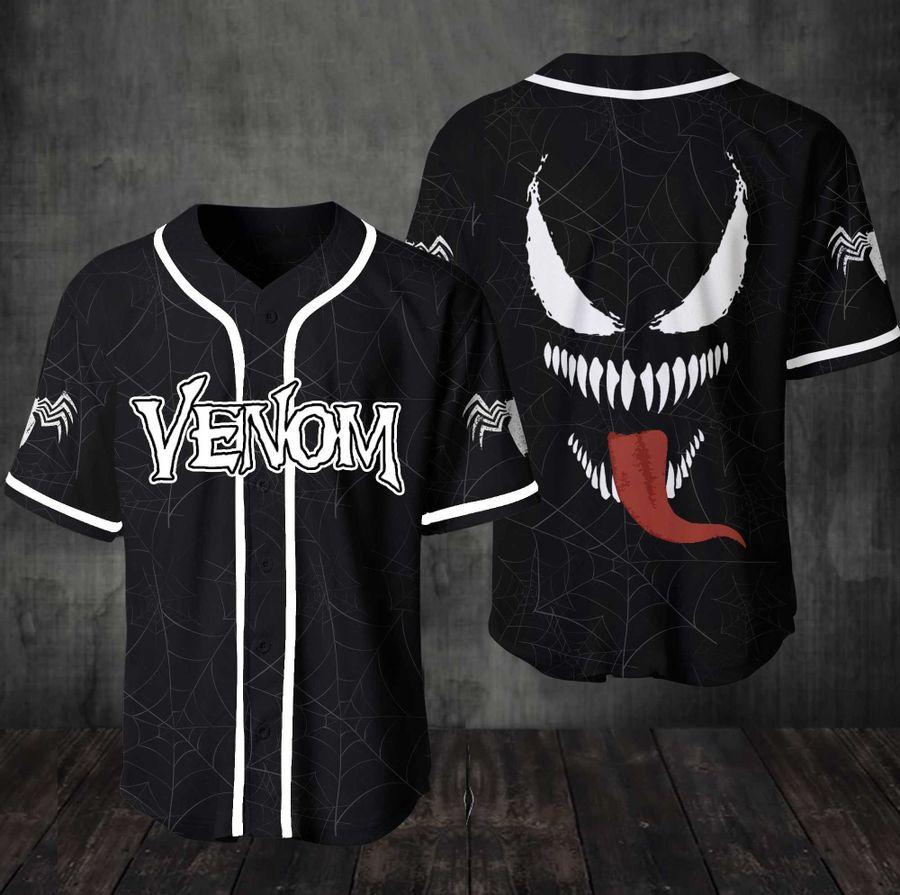 Vernom Marvel baseball jersey shirt