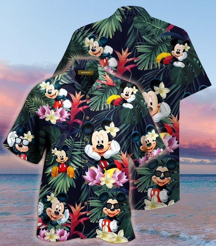 Mickey mouse aloha short sleeve hawaiian shirt
