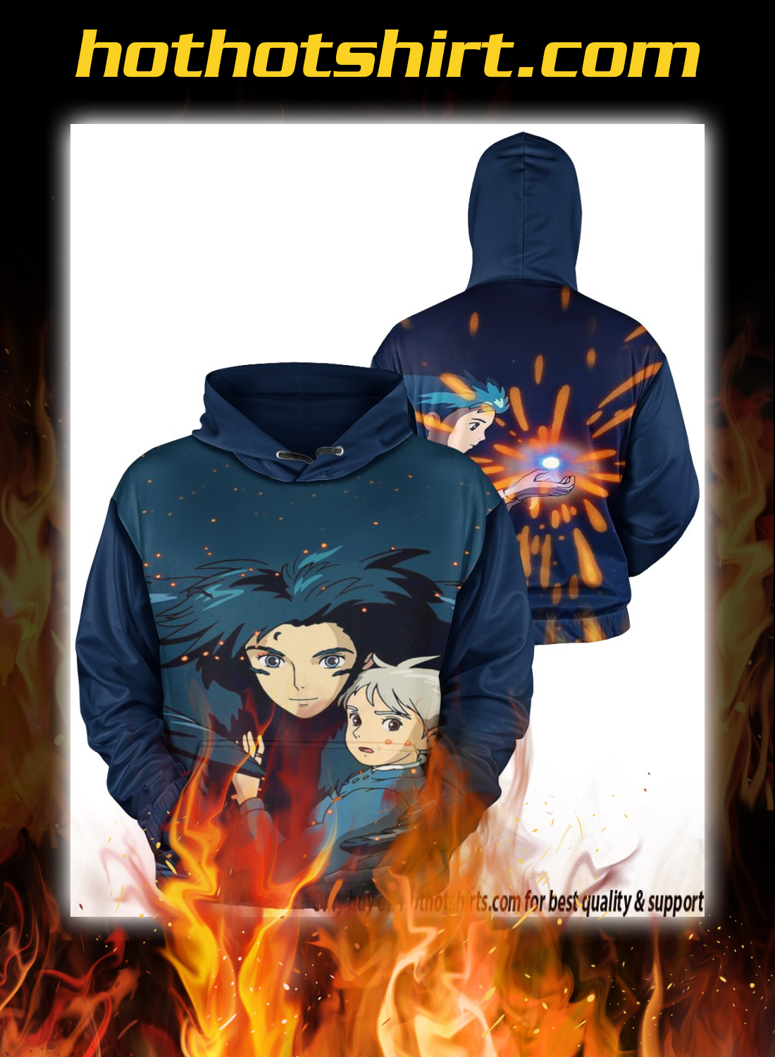 Howl's Moving Castle 3d all over print hoodie