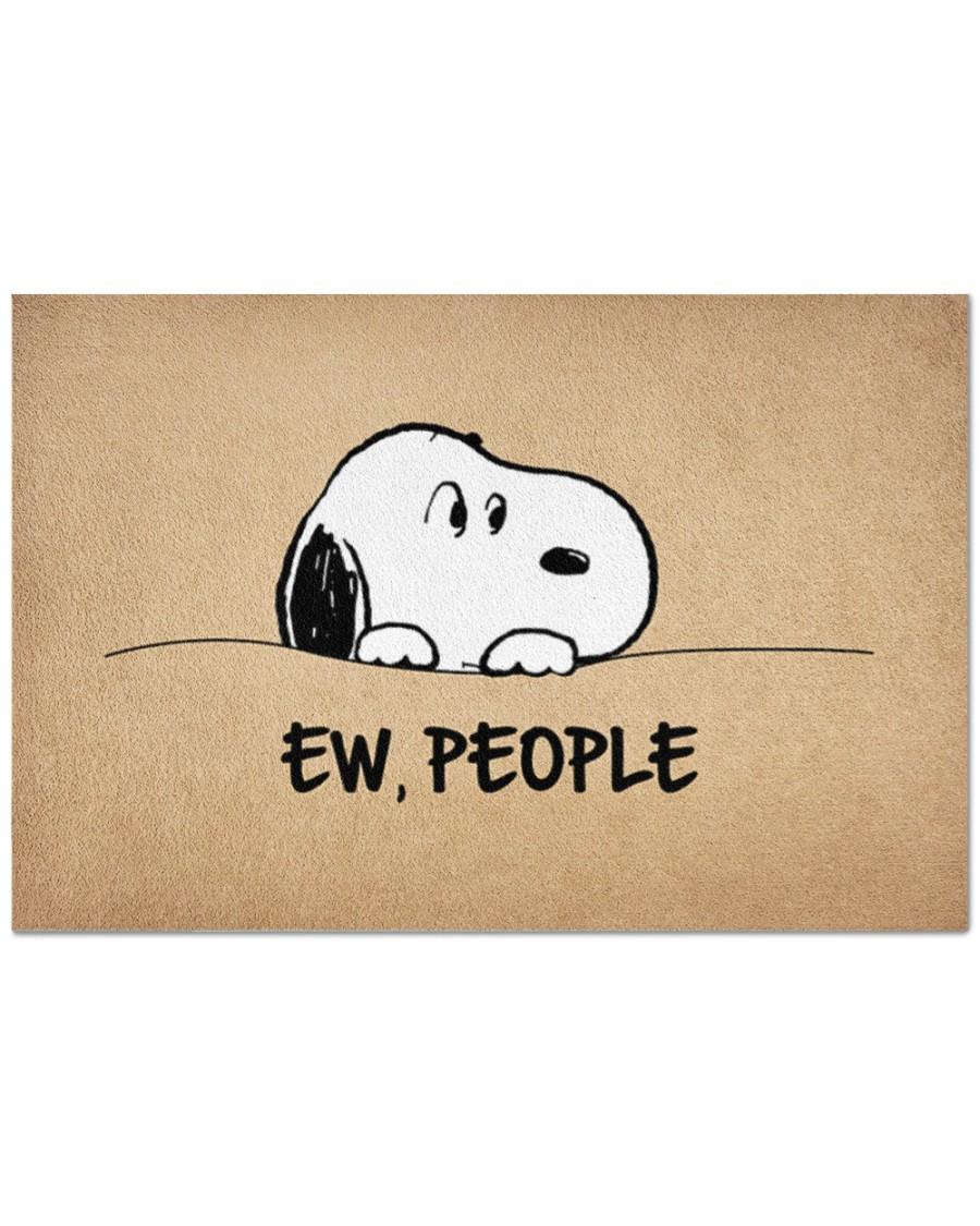 Snoopy ew people doormat