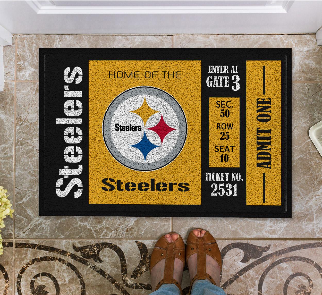 NFL Pittsburgh Steelers Team Ticket Runner Doormat