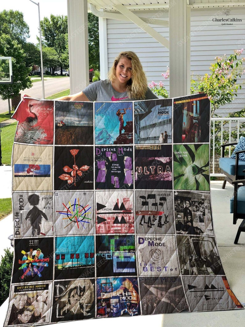 Depeche mode albums cover all over printed quilt 1