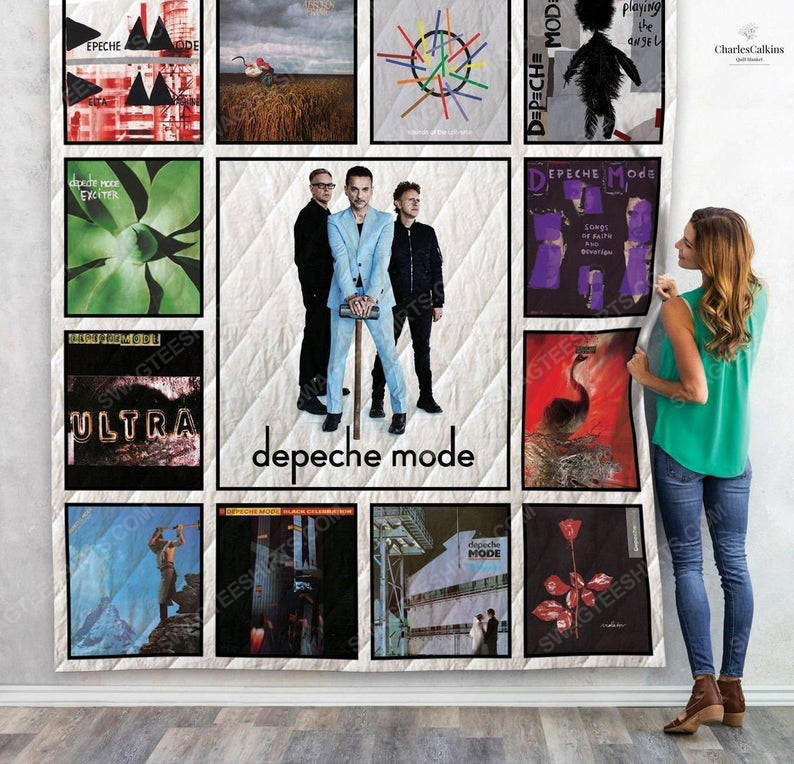 Depeche mode albums cover retro full printing quilt 1