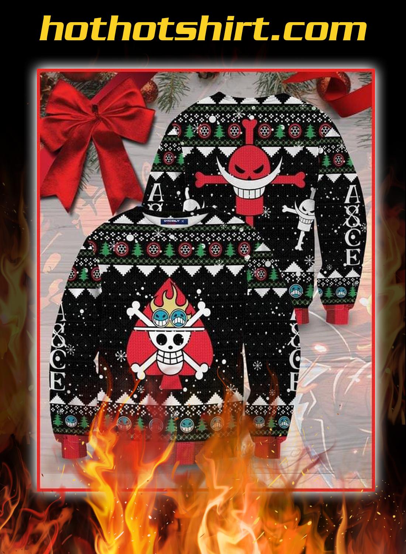 Luffy edward newgate one piece 3d sweater 2