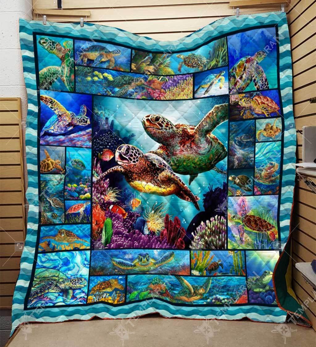 Sea turtle blanket - maria