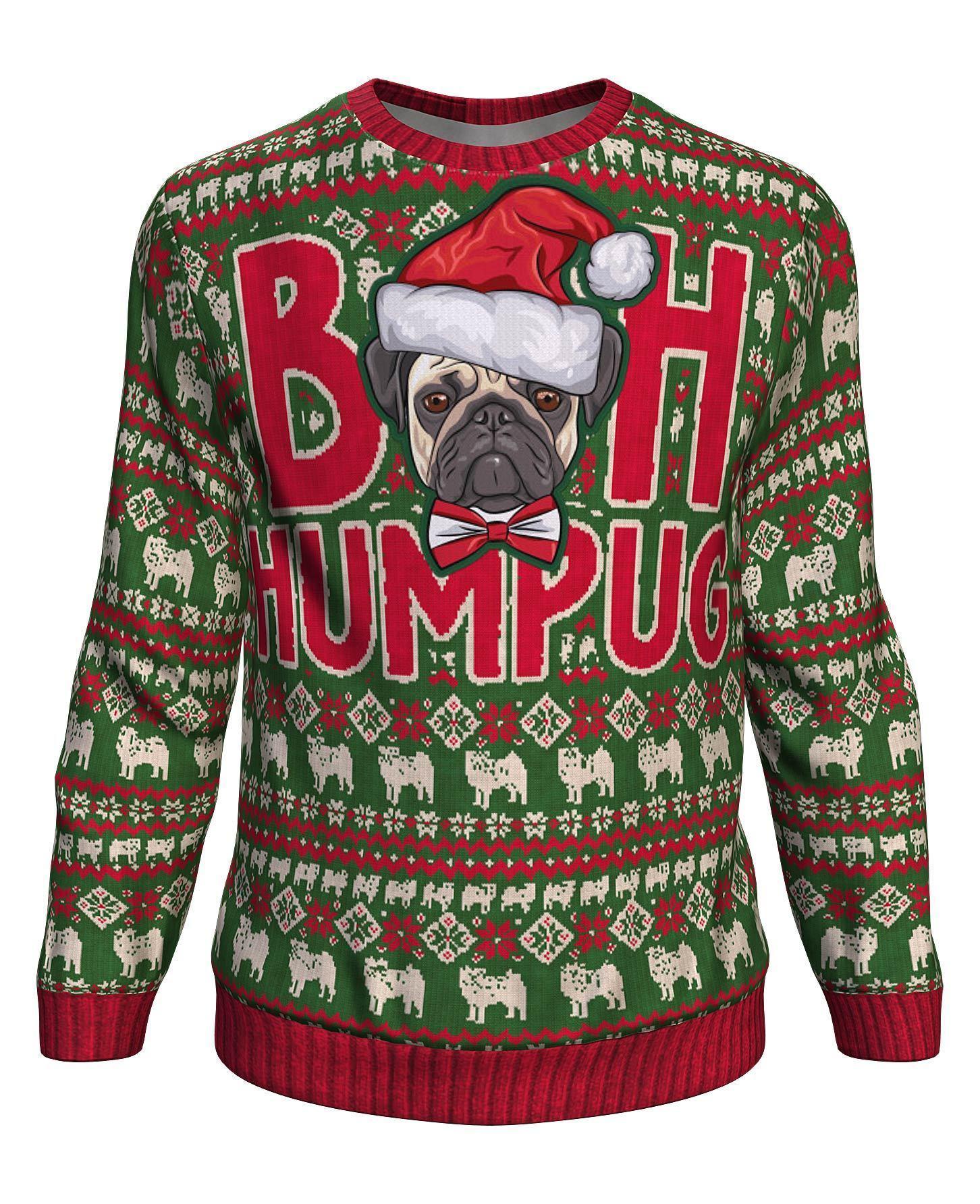 Christmas bah humpug all over print sweater - maria