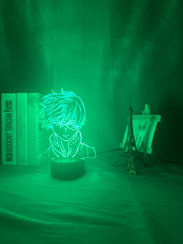 Anime My Hero Academia Shoto Todoroki Face – 3D led 2