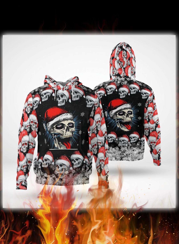 Naughty skull xmas 3d hoodie and zip hoodie
