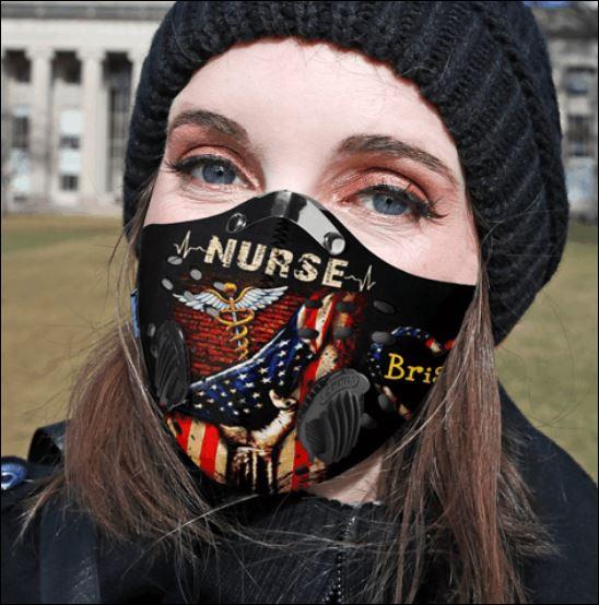 America flag nurse briana activated carbon Pm 2.5 Fm face mask