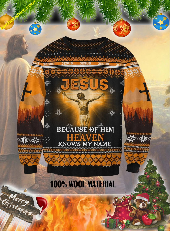 Jesus hand cross 3d christmas sweatshirt
