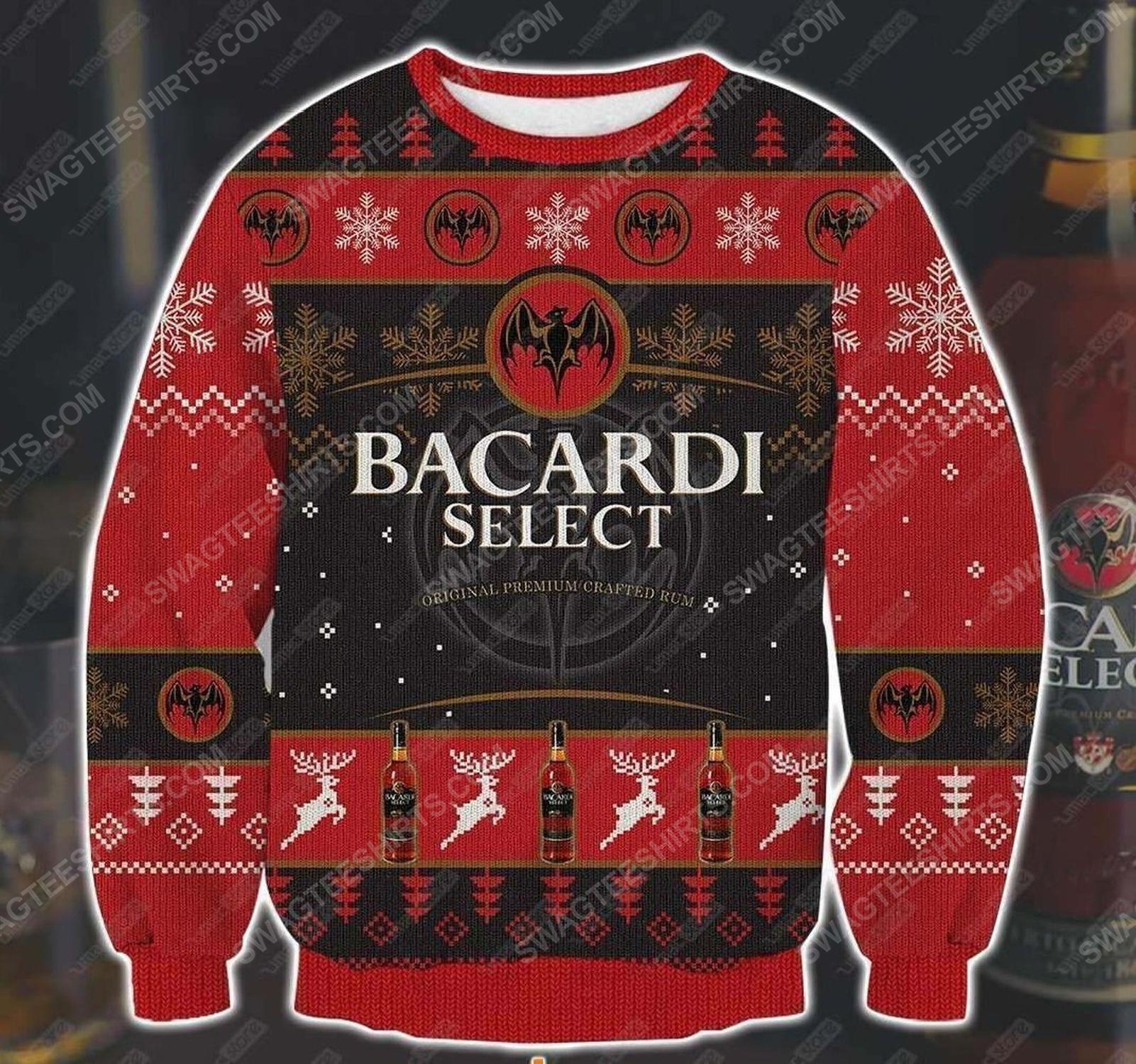 Bacardi select dark rum ugly christmas sweater
