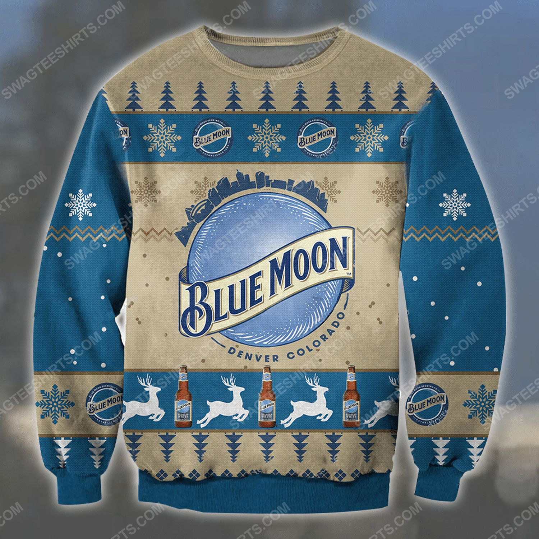 Blue moon denver colorado ugly christmas sweater