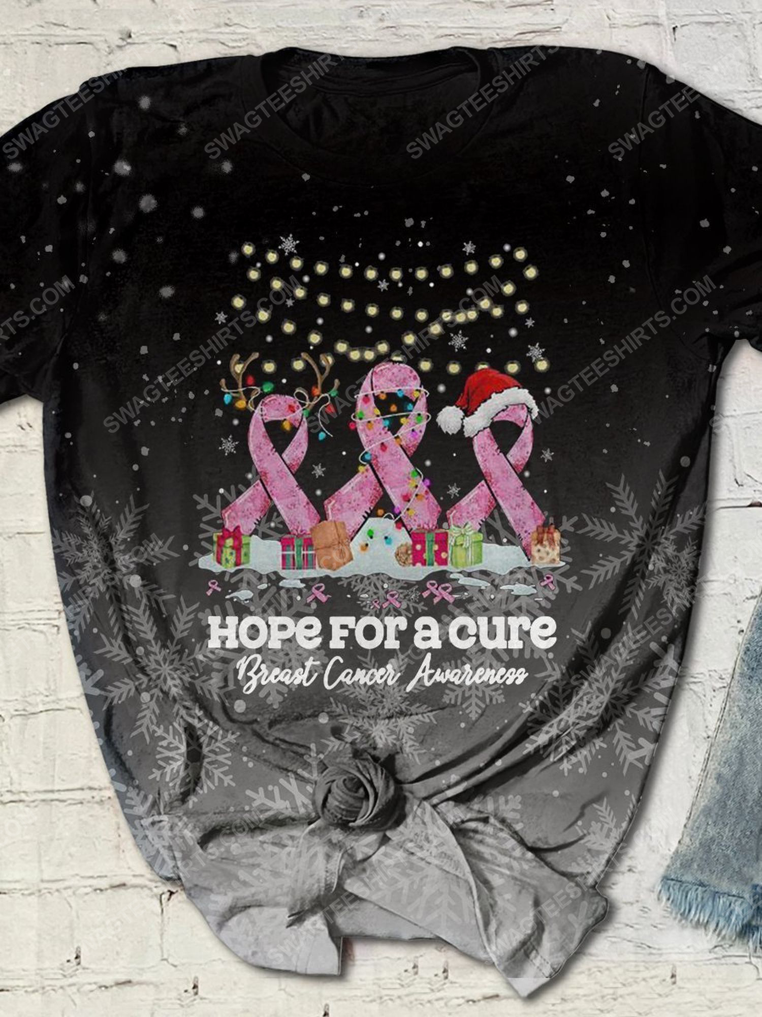 Breast cancer awareness hope for a cure full print shirt