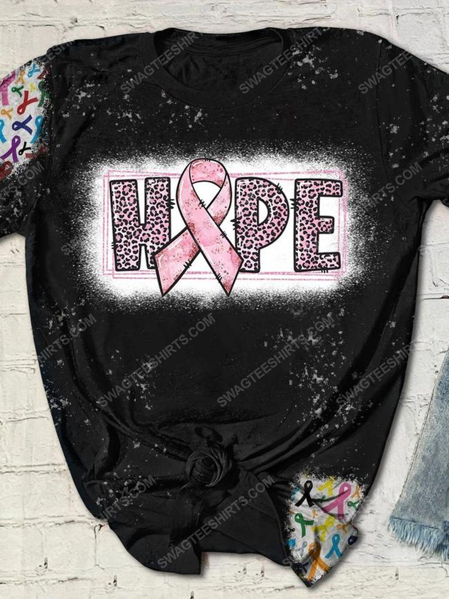 Breast cancer awareness hope full print shirt