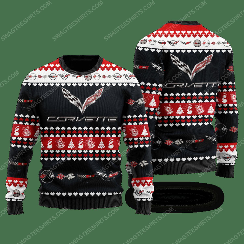Chevrolet corvette racing ugly christmas sweater
