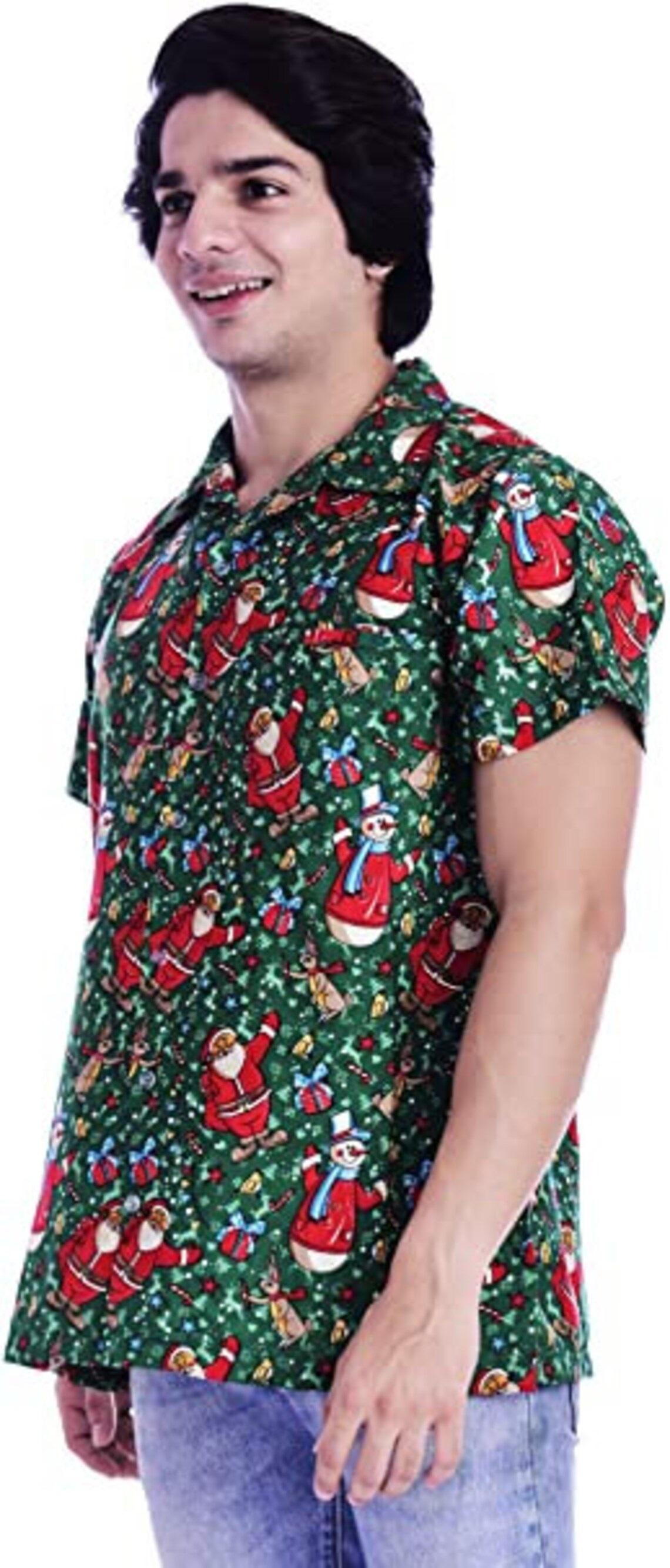 Christmas Party Holiday Santa Claus Hawaiian Shirt