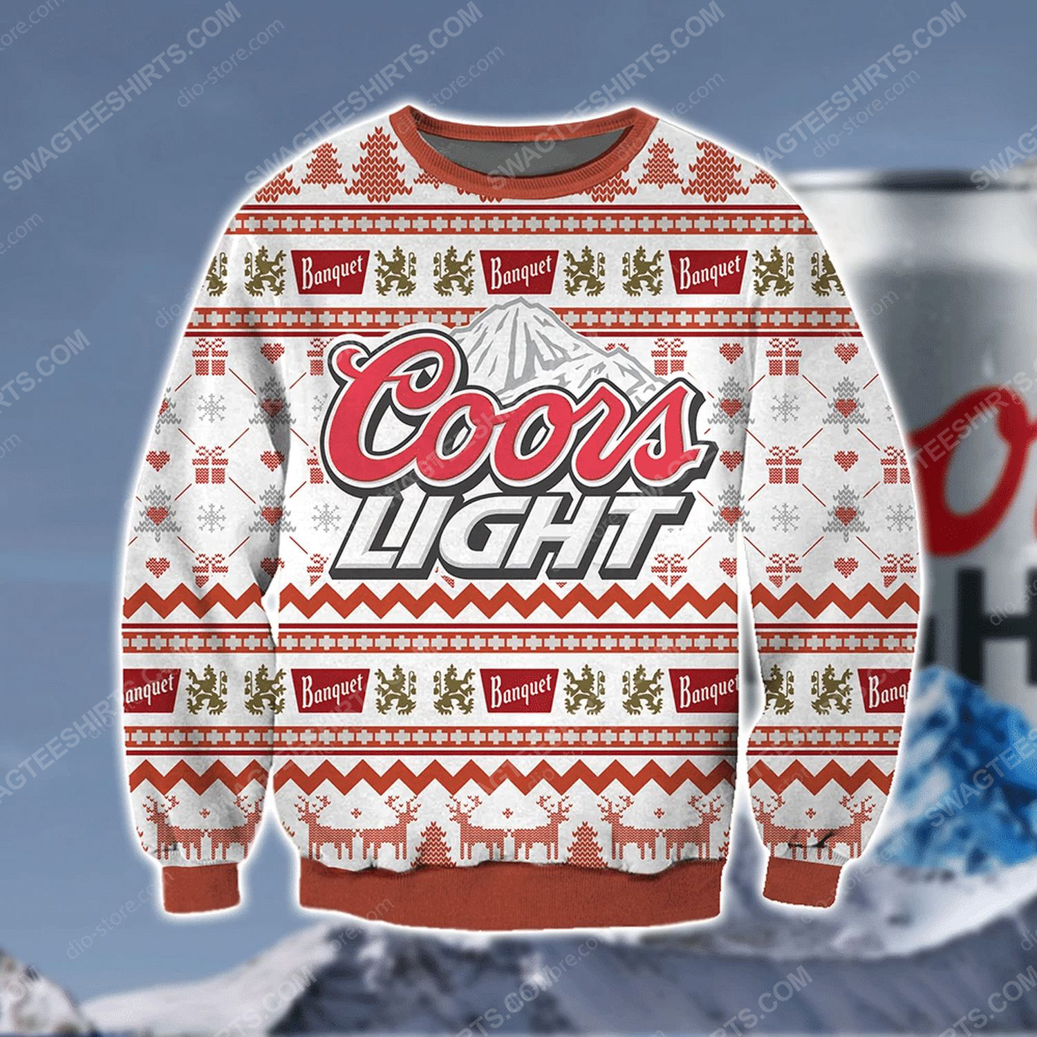 Coors light banquet beer ugly christmas sweater