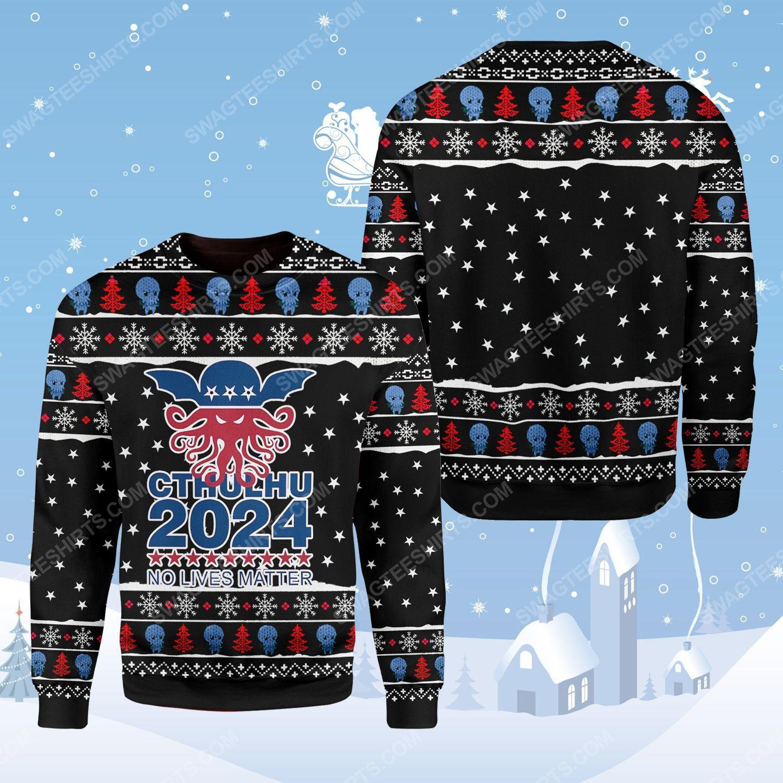 Cthulhu no lives matter ugly christmas sweater